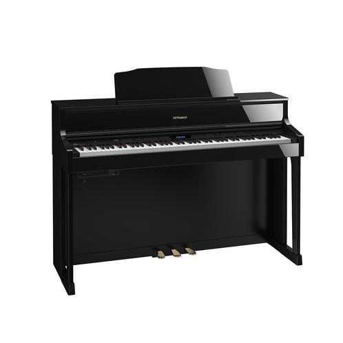 Roland HP605 Digital Piano w/ Stand, Polished Ebony