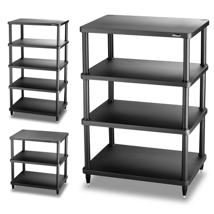SOLIDSTEEL - S3-SERIES MODULAR AUDIO RACK S3-4 (4 SHELF) BLACK