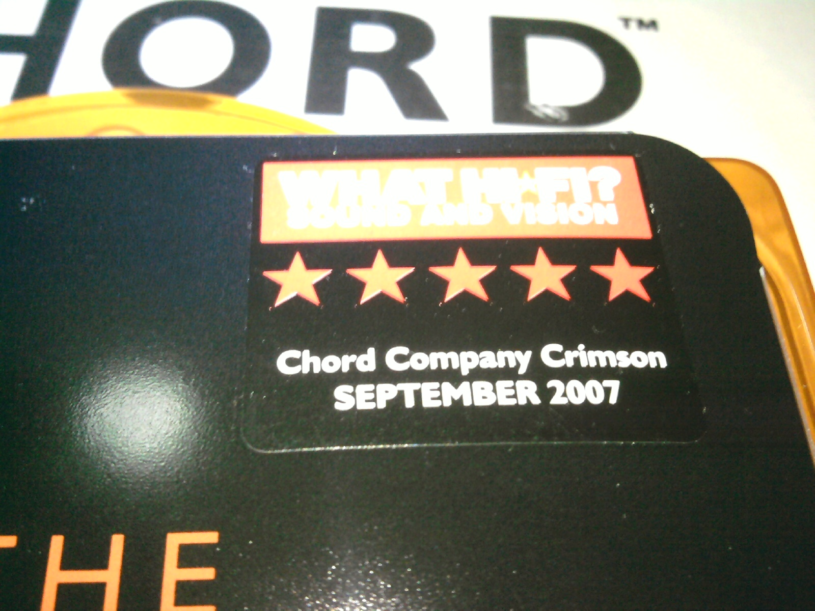 Chord Crimson Sub Woofer Cable 3metre