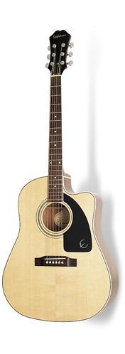Epiphone AJ-220SCE Acoustic/Electric Guitar, Rosewood Neck, Natu