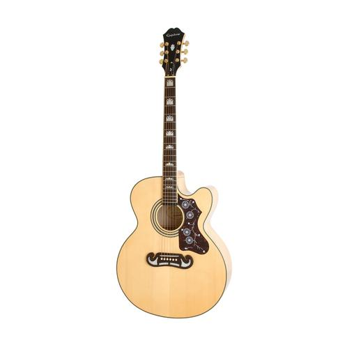 Epiphone EJ-200SCE Acoustic/Electric Guitar, Rosewood Neck, Natu