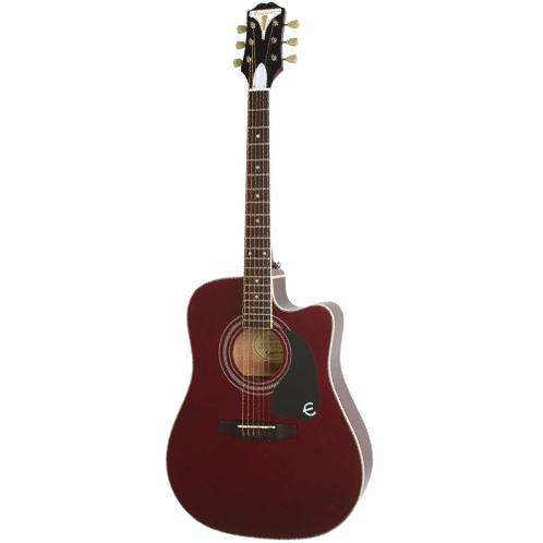 Epiphone PRO-1 ULTRA Acoustic Guitar, Wine Red