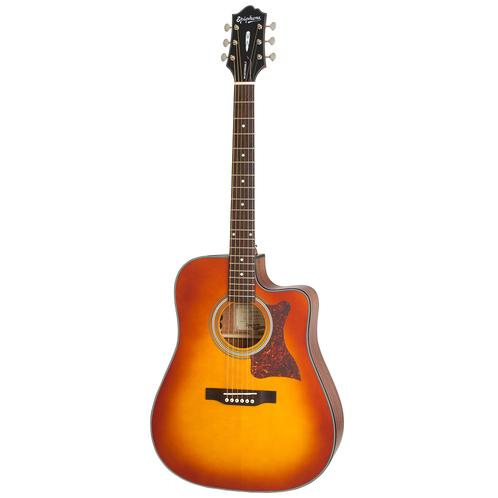 Epiphone Masterbilt DR-400MCE Acoustic Guitar, Faded Cherry Sunb