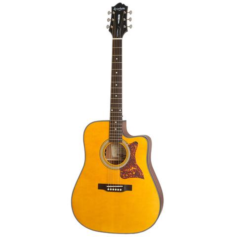 Epiphone Masterbilt DR-400MCE Acoustic Guitar, Natural Satin