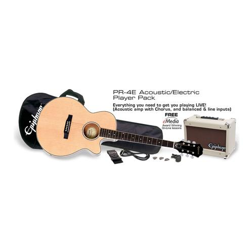 Epiphone PR-4E Acoustic Guitar Player Pack, UK 240V