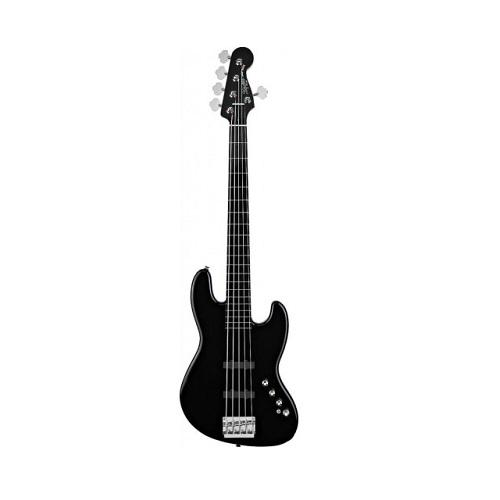 Squier Deluxe Jazz Bass Guitar V Active, Ebonol Neck, Black