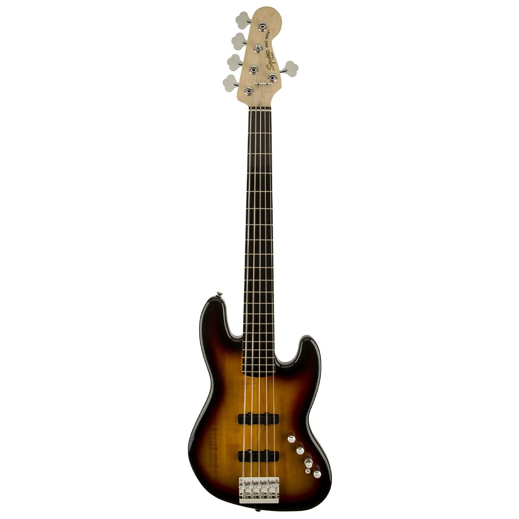 Squier Vintage Modified 5-String Precision Bass Guitar, 3-Tone S