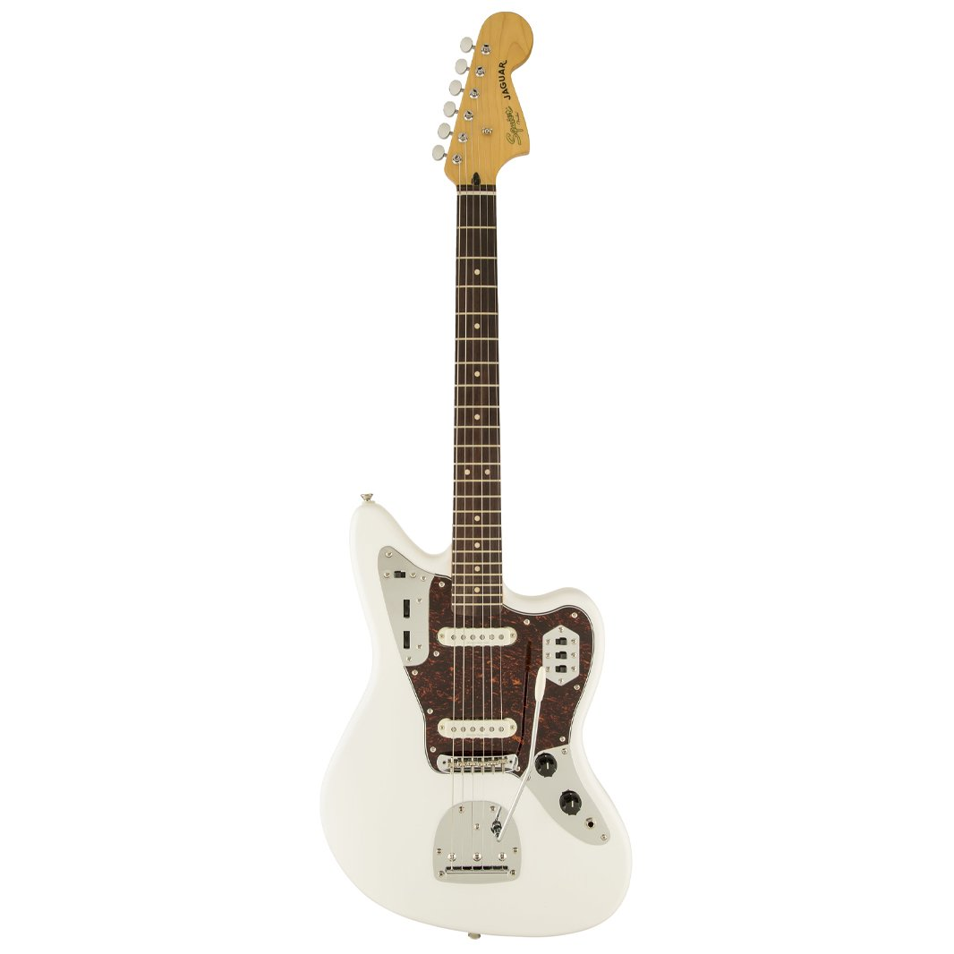 Squier Vintage Modified Jaguar Electric Guitar, Olympic White
