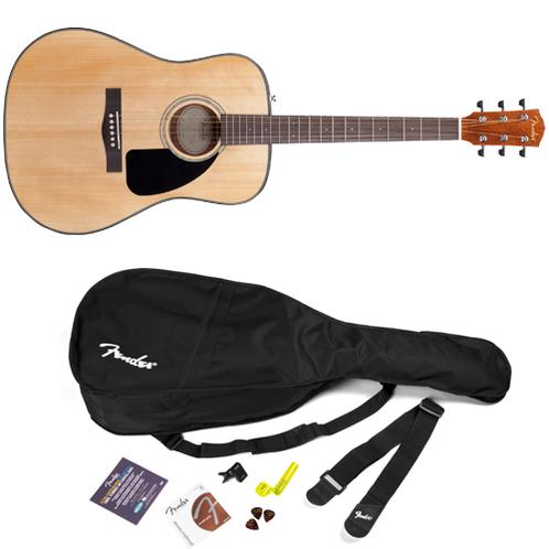 Fender DG-8S Acoustic Guitar Pack V2, Natural