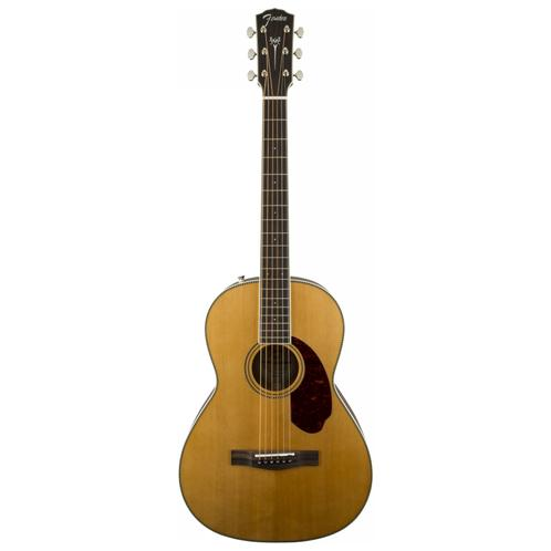 Fender PM-2 Standard Parlor Acoustic Guitar w/Case, Natural