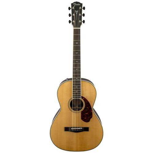 Fender PM-2 Deluxe Parlor Acoustic Guitar w/ Case, Natural