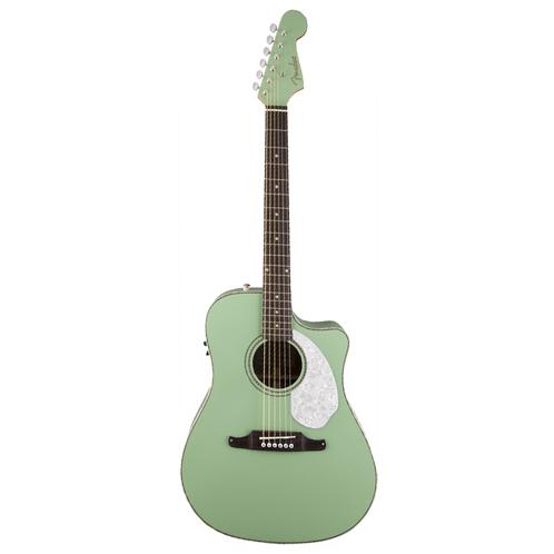 Fender Sonoran SCE Acoustic-Electric Guitar, Surf Green