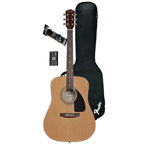 Fender FA-100 Dreadnought Acoustic Guitar Pack, Natural