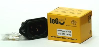 IeGO 6N Pure Silver AC Socket-Black