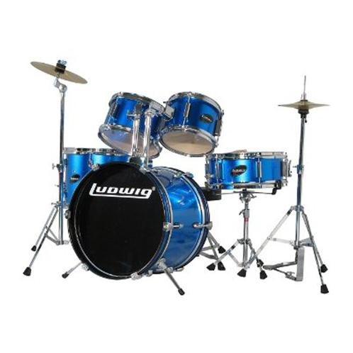 Ludwig LJR1062DIR 5-Piece Junior Drum Kit w/ Hardware+Throne+Cym