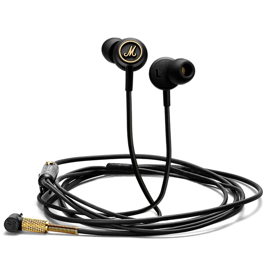 Marshall Mode EQ Earphones, Black and Gold