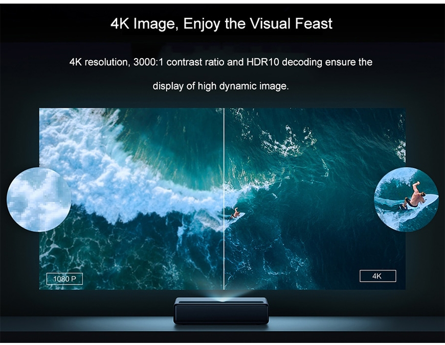 Xiaomi mijia 4K laser projector TV Android home theater Ultra sh