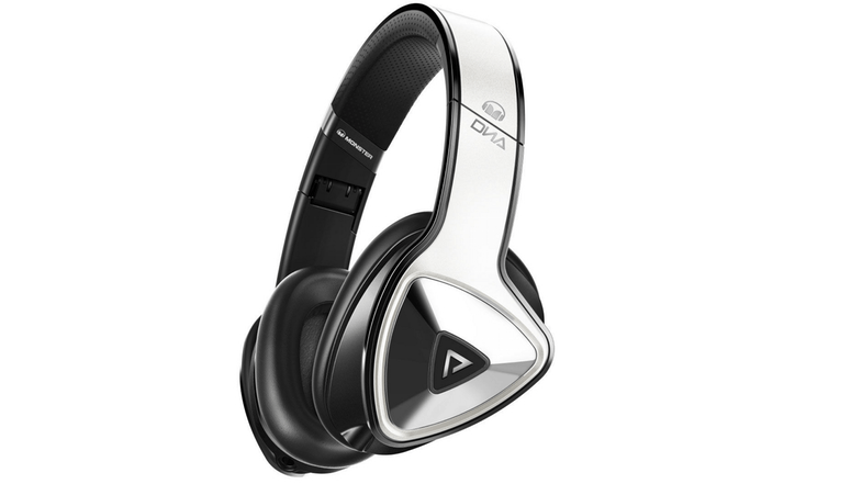 Monster DNA Pro Over Ear Headphones - White Tuxedo