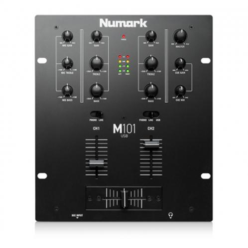 Numark M101 Black 2 Channel DJ Mixer w/ USB