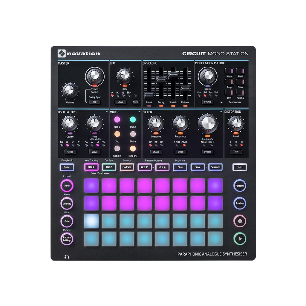 Novation Circuit Mono Station Paraphonic Synthesizer With Three
