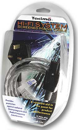 Tacima HI-FI System Screened Mains Cable - 5 Metres