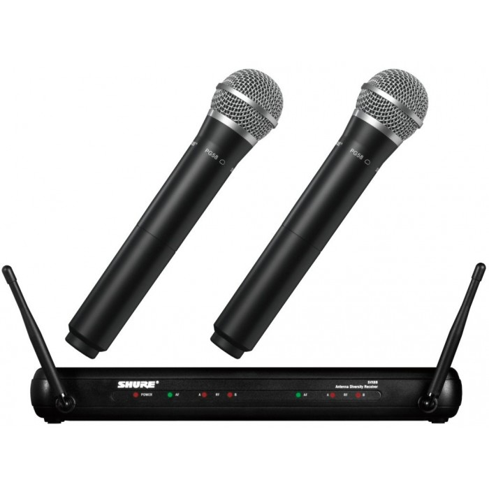 Shure SVX288/PG58 Dual Vocal Wireless Sytem