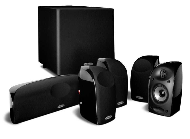 TL1600    6-piece compact home theater system with powered subwo