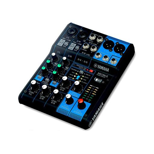 Yamaha MG06X 6 Channel Mixer with USB and FX