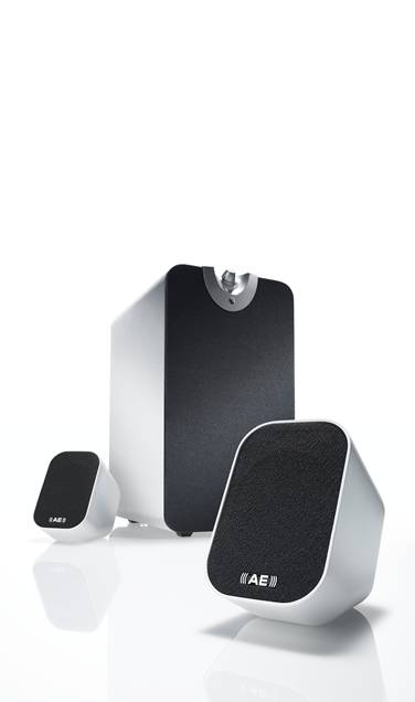 Acoustic Energy Aego M White 2.1 Speakers