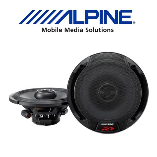 "Alpine SPR-60 6.5"" Coaxial 2 Way Car Speakers"