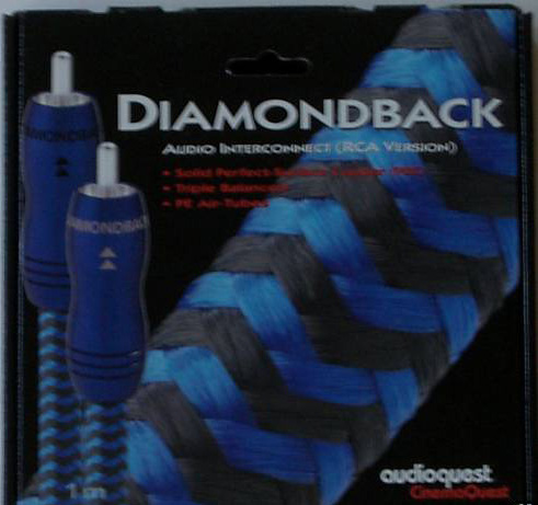 Audioquest Diamondback RCA interconnect 1m
