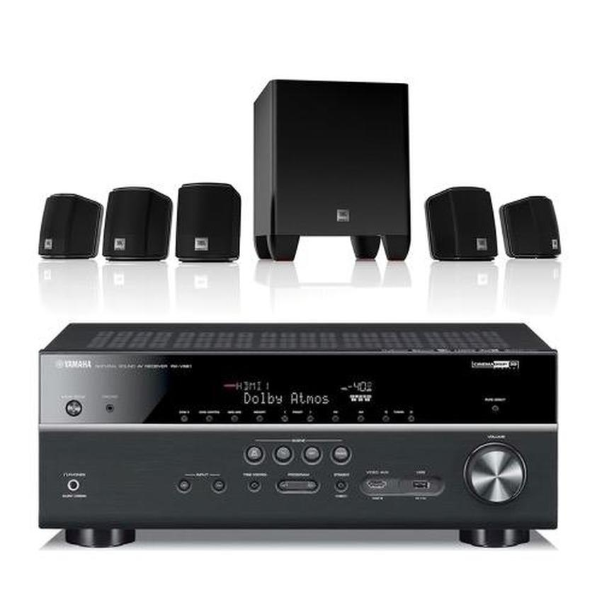 bundle yamaha rx v681 7 2 channel network a v receiver. Black Bedroom Furniture Sets. Home Design Ideas