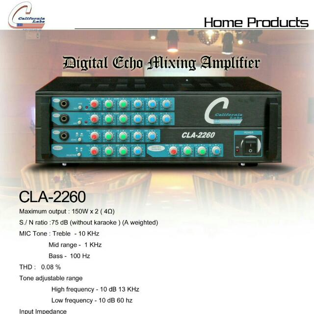 Califonia Labs Amplifier CLA-2260