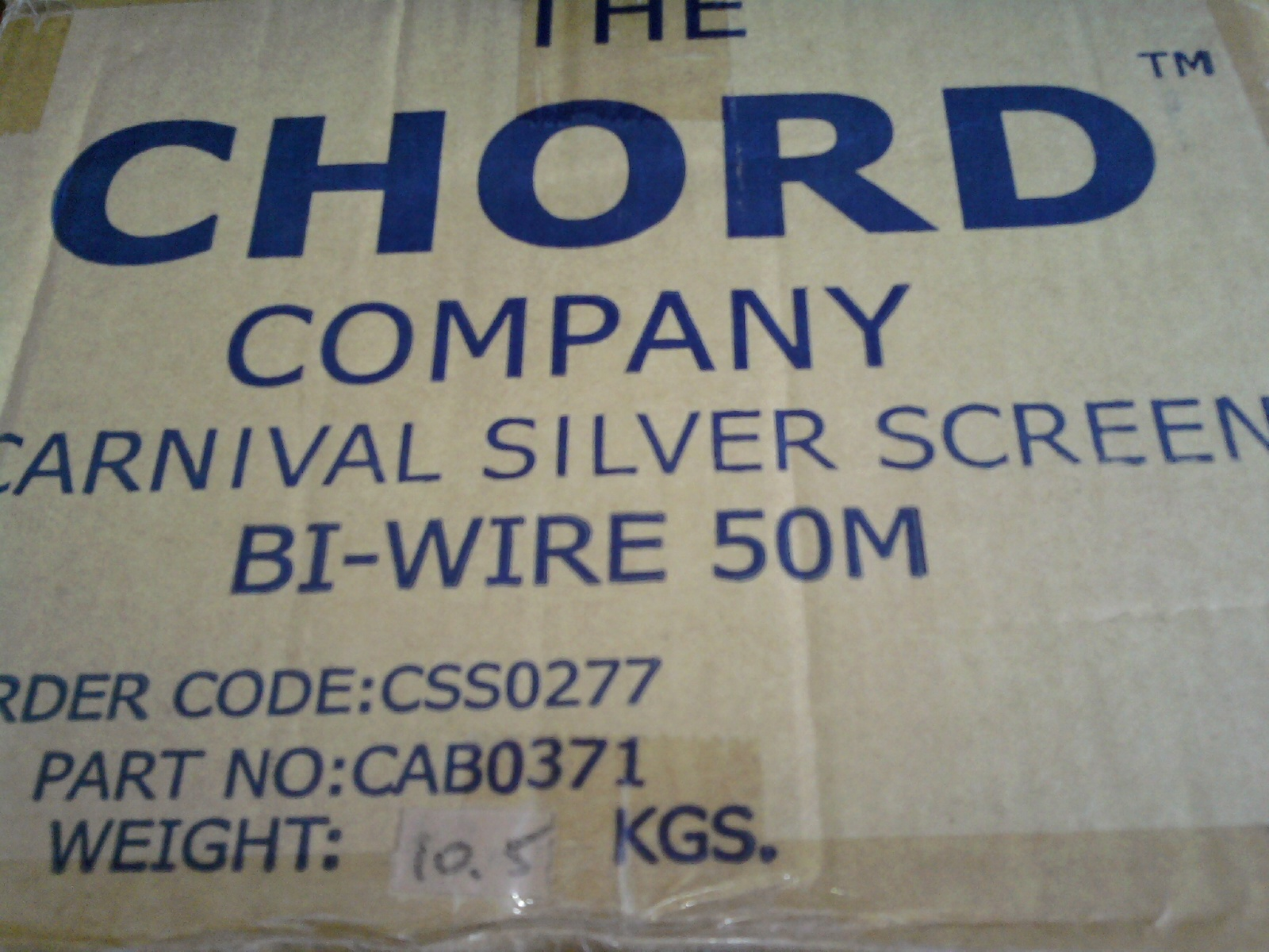 Chord Carnival Silver Screen biwire speaker cable