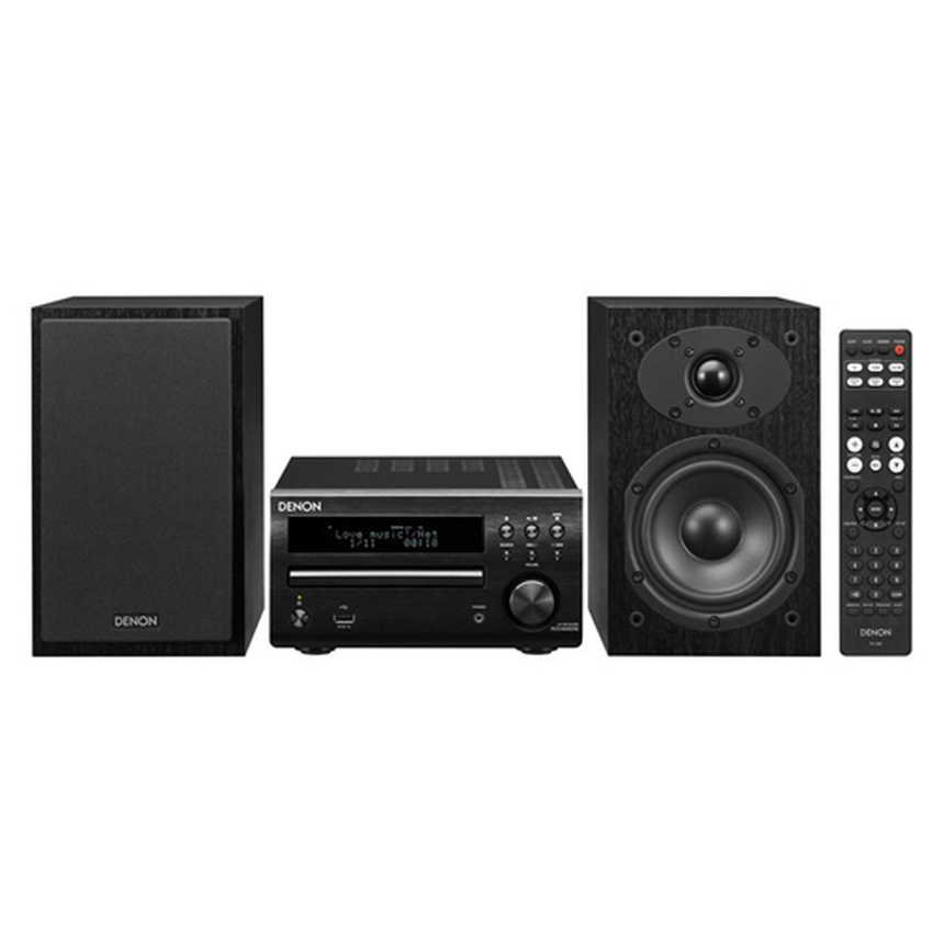 Denon DM40BKE2 System + Speakers (Black)