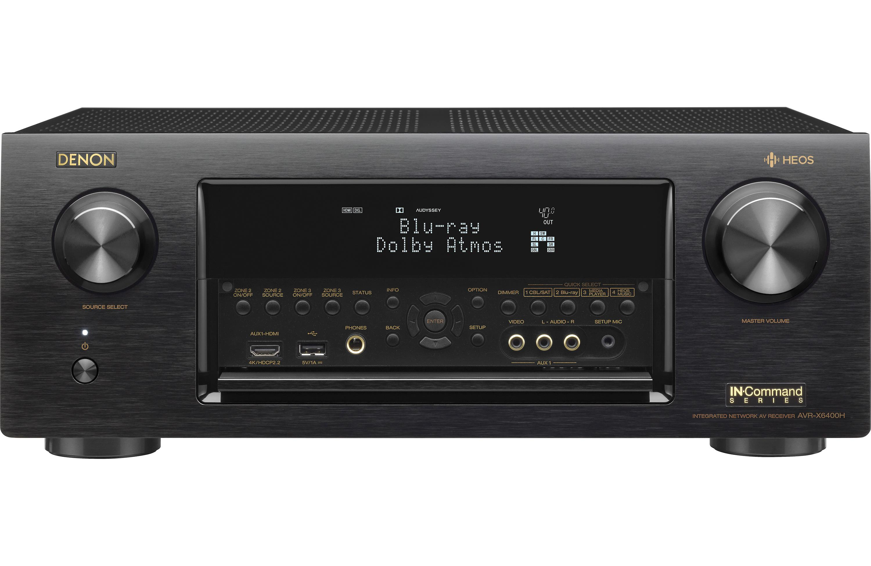 Denon AVR-X6400H - AV network receiver - 11.2 channel