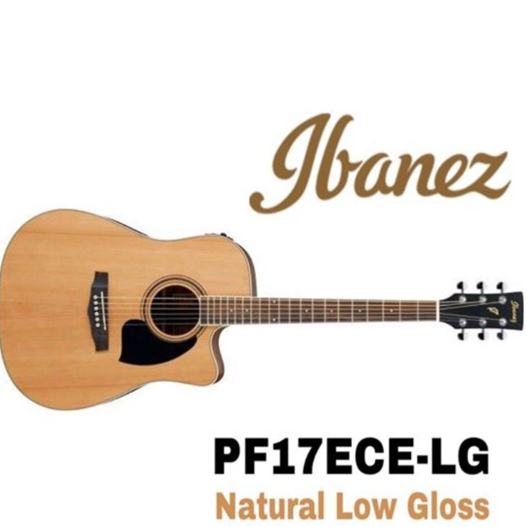 Ibanez PF17ECE-LG Acoustic Guitar, Natural Low Gloss
