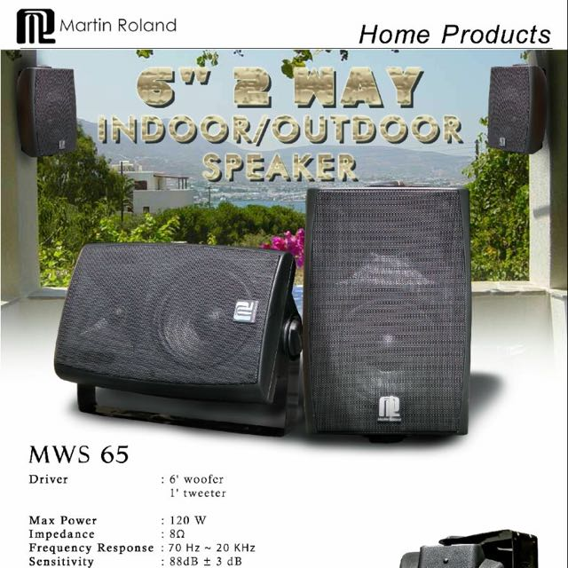 Martin Roland MWS65 Indoor/Outdoor