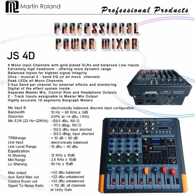 Martin Roland Power Mixer JS-4D New