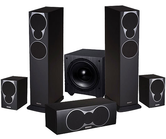 MISSION M3 5.1 SPEAKER SYSTEM (BLACK)