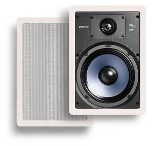Polk Audio RC85i 2-Way In-Wall Speakers (Pair, White)