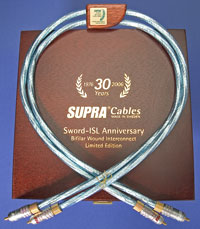Supra Cables Sword ISL Interconnect, 1-meter Pair