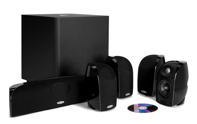 Polk audio TL2600 6-piece compact home theater system with power