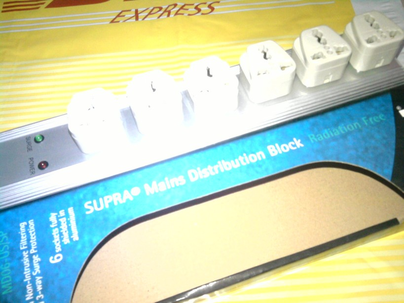 Supra Mains Power Distribution Block - MD06-US 250v 10amp