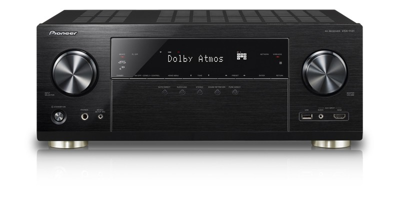 Pioneer VSX-1131 7.2-Channel AV Receiver with MCACC built-in Blu