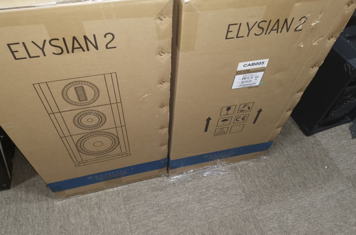 wharfedale elysian 2 with stand walnut one pair speaker 1 year w
