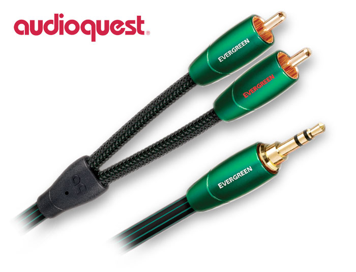 Audioquest Evergreen, 3.5mm to 2 RCA Audio Cable 1.5m