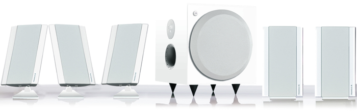 Triangle new GALAXY 2 Home Theater Speaker System WHITE