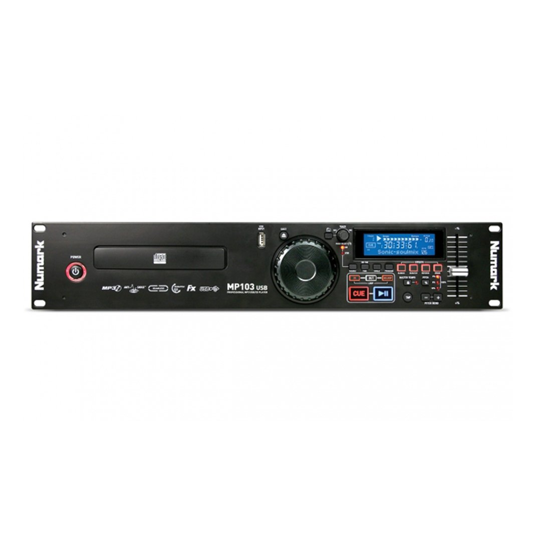 Numark MP103 USB Rack-mountable Single Deck Media/CD Player