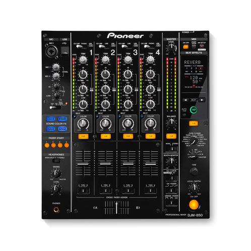 Pioneer DJM-850-K 4-Channel Performance DJl Mixer, Black